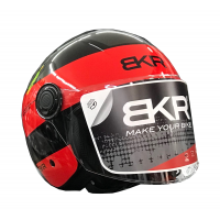 CASCO BKR OF510  XPRESSO READY B5 ROJO-NEGRO